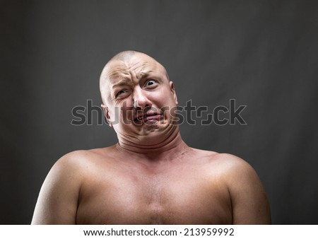 Making a face - stock photo