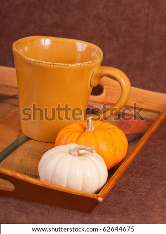 Making A Holiday Pumpkin Spice Coffee Drink - stock photo