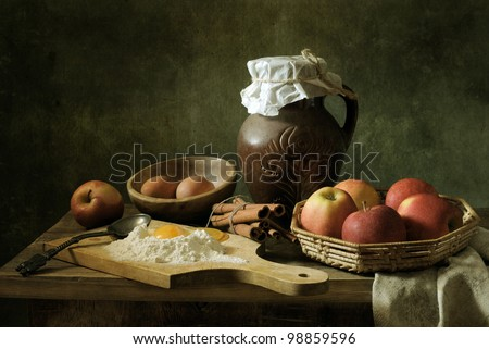 Making an apple pie - stock photo
