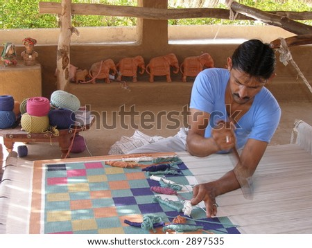 Making carpet - stock photo