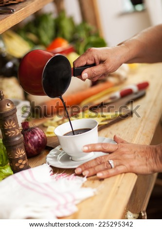 Making coffee - stock photo