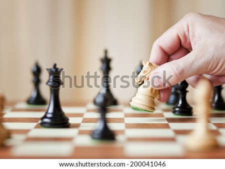making decision, chess  - stock photo