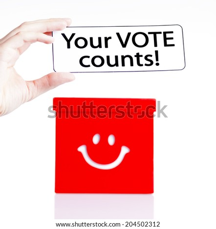 making decision,voting - stock photo