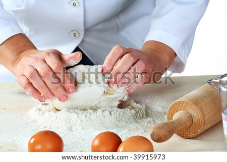 making dough for tasty baked goods