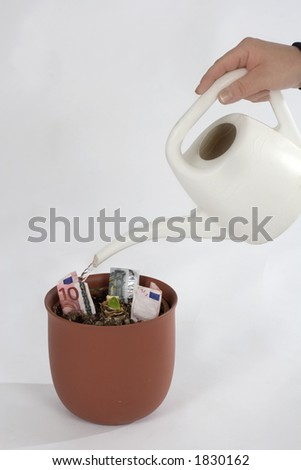 making money - stock photo