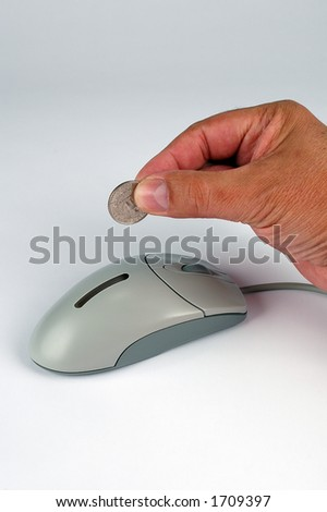 Making money in cyberspace - stock photo