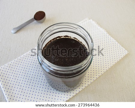 Making of cold-brewed coffee in glass - stock photo