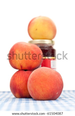 Making Peach Preserves Concept - stock photo
