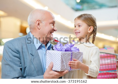 Making presents brings happiness. - stock photo