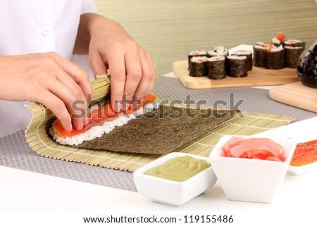 Making rolls - stock photo