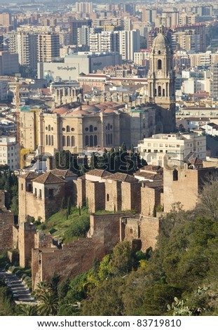 Malaga, Andalusia, Spain; View Over The City