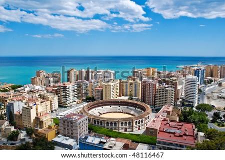 Malaga Cityscape - Day 2 - stock photo