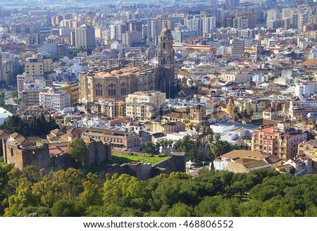 Malaga (Spain). Cathedral Malaga Cathedral is an impressive structure that towers above the streets of the ancient city.