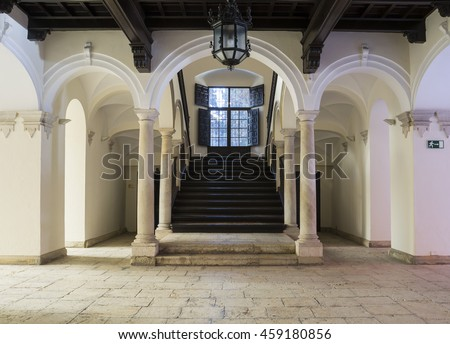 Malaga, Spain - January 26, 2015: Episcopal Palace in Malaga