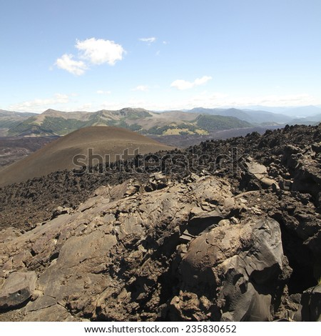 Malalcahuello and Nalcas National Park, Chile - stock photo