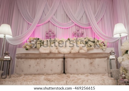 Malay Wedding Setting Vintage Seat Bride Stock Photo (Royalty Free ...