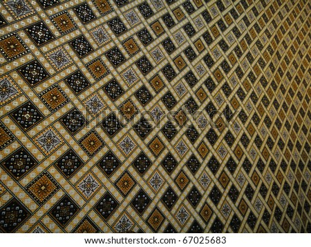 malaysia batik background in narrow view - stock photo