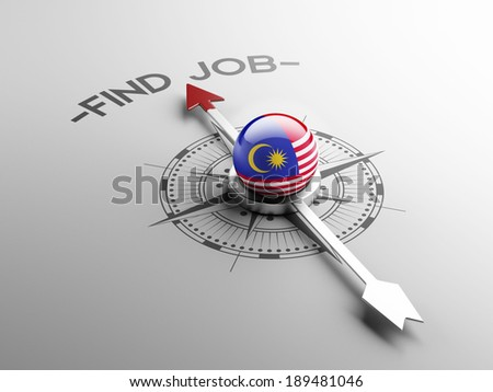 Malaysia High Resolution Find Job Concept