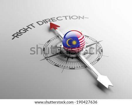 Malaysia High Resolution Right Direction Concept