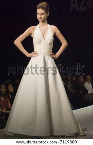 Malaysia International Fashion Week 2007 - Runway Brides 2008 (Fashion Designer: Carven Ong) - stock photo