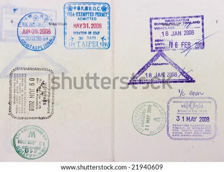 Malaysia passport travel to Asia - stock photo
