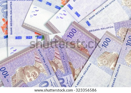 Malaysia Ringgit Note Background - stock photo