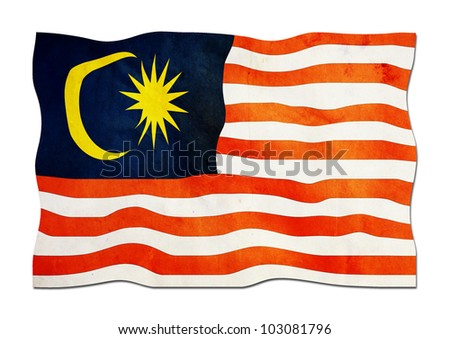Malaysian Flag made of Paper - stock photo