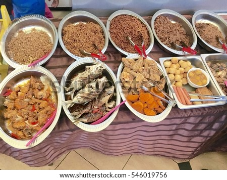 Malaysian food, delicious cuisine , sold on street in stalls throughout Kuala Lumpur, Malaysia
