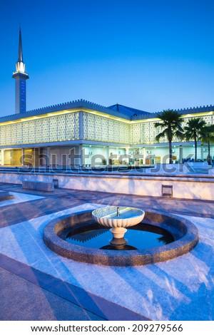 Malaysian National Mosque ( Masjid Negara ), Kuala Lumpur, Malaysia. - stock photo