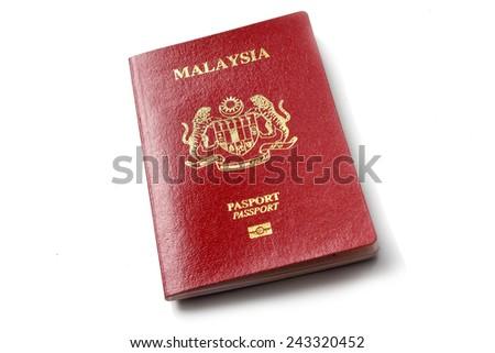 Malaysian  Passport - stock photo