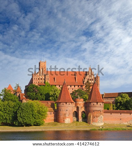 Malbork Castle, Poland, UNESCO World Heritage Site - stock photo