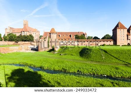 Malbork Castle, Pomerania, Poland - stock photo