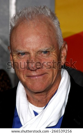Malcolm MacDowell at the Los Angeles premiere of 'Bolt' held at the El Capitan Theatre in Hollywood on November 17, 2008.