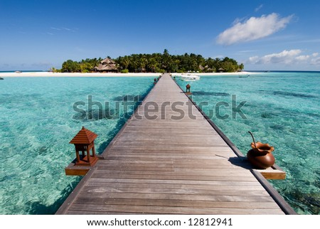 maldives seascape - stock photo