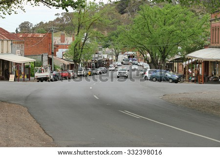 MALDON, VICTORIA, AUSTRALIA - October 16, 2015: Maldon, in the Shire of Mount Alexander, has been designated 'Australia's first notable town'. Its 19th-century appearance has been maintained