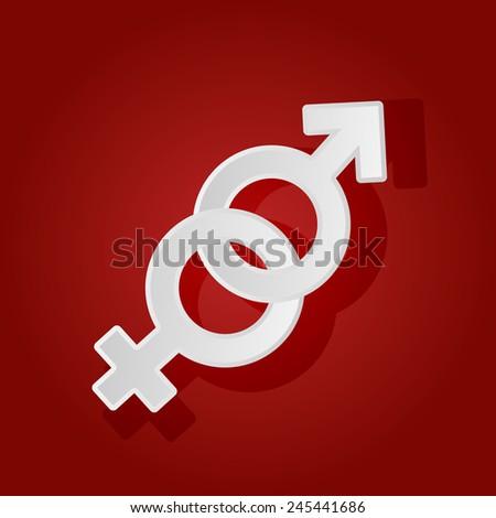 Male and female gender symbols, illustration. - stock photo