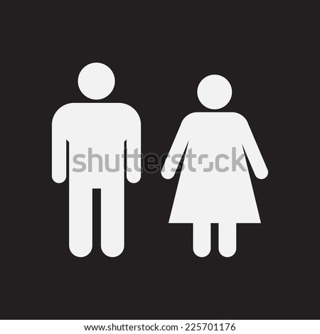 Male and Female Restroom Symbol Icon. - stock photo