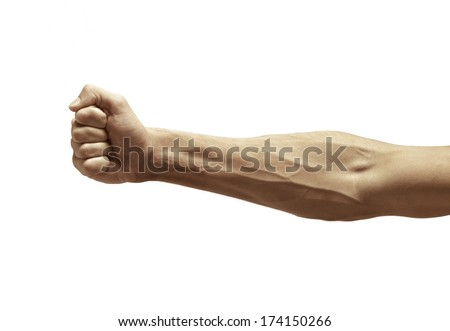 Male arm with visible veins - stock photo