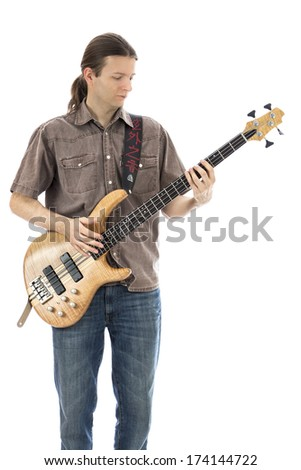 Male bass player  (Series with the same model available)