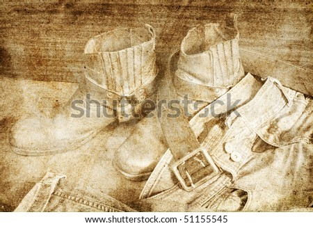 male clothes grunge background - stock photo
