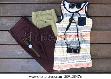 Male fashion set - stock photo