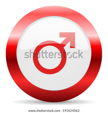 male glossy web icon - stock photo
