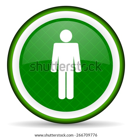 male green icon male gender sign  - stock photo