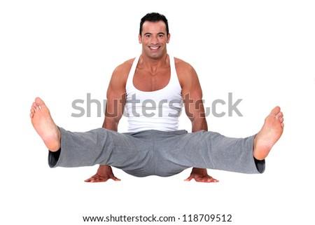 Male gymnast - stock photo