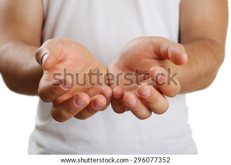 Male hands close up - stock photo
