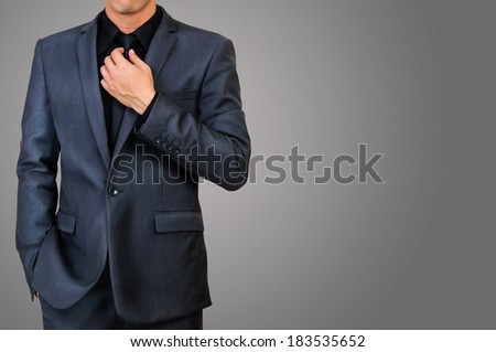 male in gray suit  - stock photo