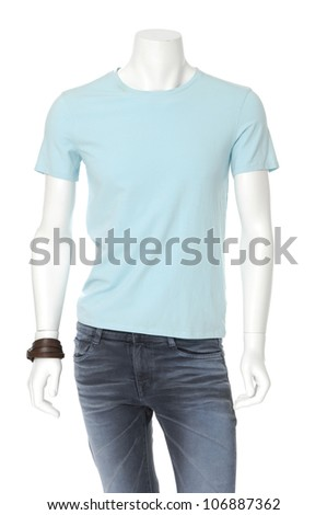 male mannequin dressed in jeans