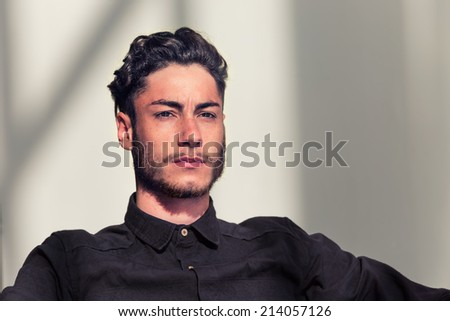 Male model in the studio - stock photo