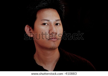 Male portrait - black background