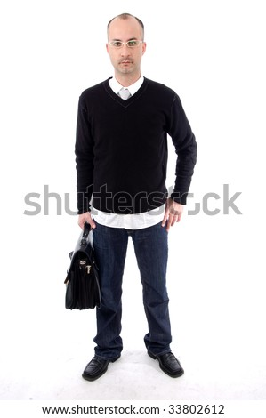 Male ready to go at work - stock photo